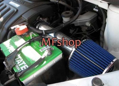 Honda Blue Intake System - 2004 2005 2006 Acura MDX 2006 2007 2008 Honda Pilot Ridgeline 2005 2006 Honda Odyssey 3.5L V6 Air Intake Filter Kit System (Black Accessories with Blue Filter)