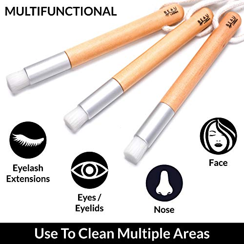 20 Lash Cleansing Brushes For Eyelash Extensions – Lash Shampoo Cleaning Brush To Wash Dirt, And Makeup – Professional Eyelash Aftercare Accessories And Supplies To Keep Eyelids and Eyelashes Cleaner