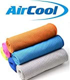 Water Activated Cooling Towel – Microfibre Sports Towel – Multipurpose for Home, Sports, Gym, Pets, Travel and More – 30 x 100cm – Includes Carry Pouch by Air-Cool