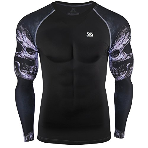 zipravs MMA Compression Tight Shirt Longsleeve Running Baselayer – DiZiSports Store
