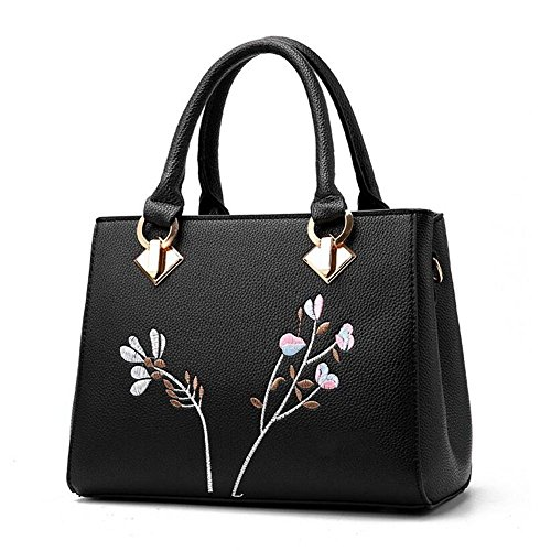 Bolsas flores Mujeres de SSMENG Messenger F Bolso Bolsas Bolso de Pu hombro Ladies Mujeres cuero Bags de E 2018 de hombro Mujeres Bags pwwazv