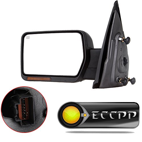 ECCPP Towing Mirror for 2007-2014 Ford F-150 Power Heated Turn Signal Puddle Lamps Driver Side Mirror