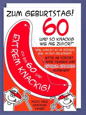 Karte 60 Geburtstag.Xxl Karte Din A4 Zum Geburtstag 60 Mit Sonnenschutz Extrem Knackig Riesenkarte