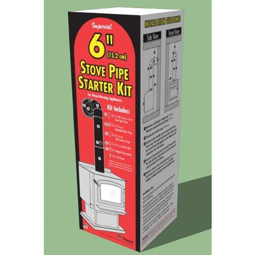 Chimney 104982 Imperial 6 in. Stovepipe Starter Kit - Stove Pipe