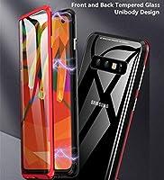 Funda para Samsung Galaxy A70 Adsorcion Magnetica Carcasa 360 Grados Protección Estuche Doble Untre Delgada Háptico Vidrio Templado Marco Aluminio Anti Choque Metal Flip Cover: Amazon.es: Electrónica