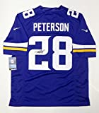 Adrian Peterson Signed Vikings NFL Nike Authentic Purple Jersey- PSA/DNA Auth