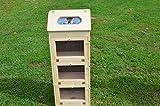 vegetable bread bin - Amish Handcrafted Solid Pine Bread Box and 3 Door Vegetable Bin. Measures 16.5