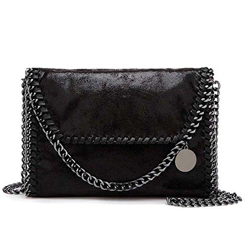 Casual Handbag Black1 S TOYU Chain Carry PU Pocket Women's Envoy Satchels Black Crossbody Chain Casual Lady U6TqwC