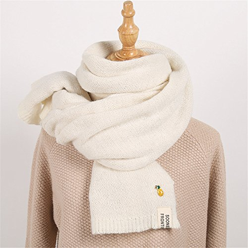 Female Sweater Day double students f Winter Pure small scarf fresh color H thickening 200 series sided 45cm Scarf Korean knitted rrS8w5