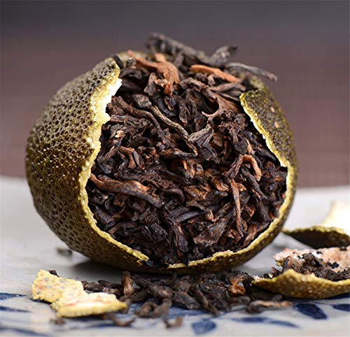 RuXinBB Qinggan Pu-erh Tea,Xinhui Supreme Green Mandarin Orange 8 Year Ripened Pu'er Black Tea Gift cans300g正宗新会天马小青柑8年宫廷级熟普洱茶300克礼品罐装 (Gong ting ji (AAA))
