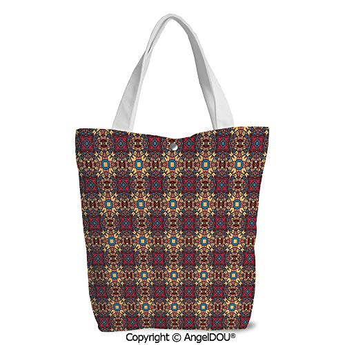 Girls Casual printed DIY Canvas Shoulder Bags Bohem Arabian Arabesque Ethnic Eas