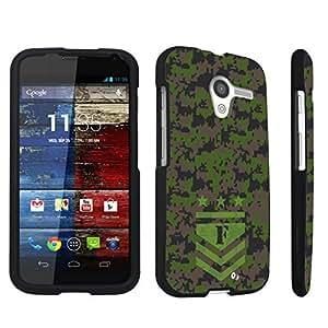 DuroCase ? Motorola Moto X 2013 First Generation Hard Case Black - (Army Camo Monogram F)