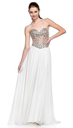 57bdae76fb Amazon.com  Terani Couture Sweetheart Beaded Corset Long Dress  Clothing
