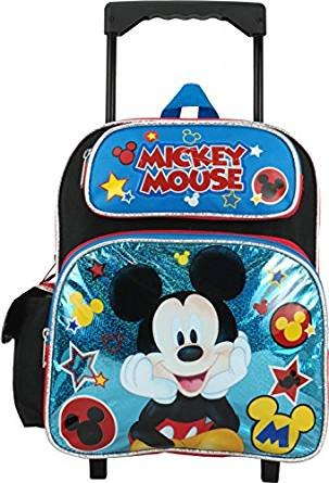 Disney Mickey Mouse 12'' Toddler Rolling Backpack by GDC