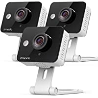 3-Pack Zmodo 720P HD Mini Wireless IP Home Security Camera System with Two Way Audio and Night Vision