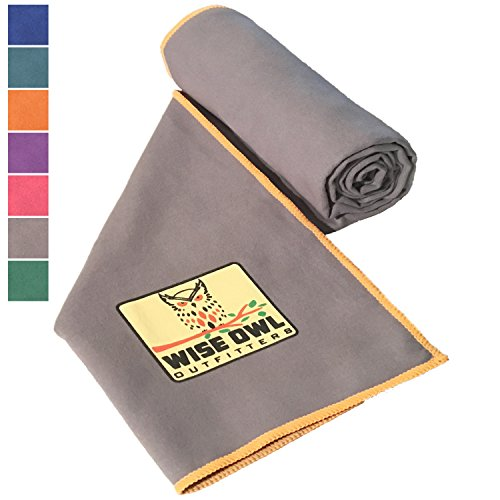 Fitness Towel - Set of Two Towels - Great for All Sports,Camping, Hiking, Yoga, Running And The Gym Or For Your Camp Survival Backpacking Outdoor Or Zombie Gear Bag Too - Large & XL Size 24x48 GY
