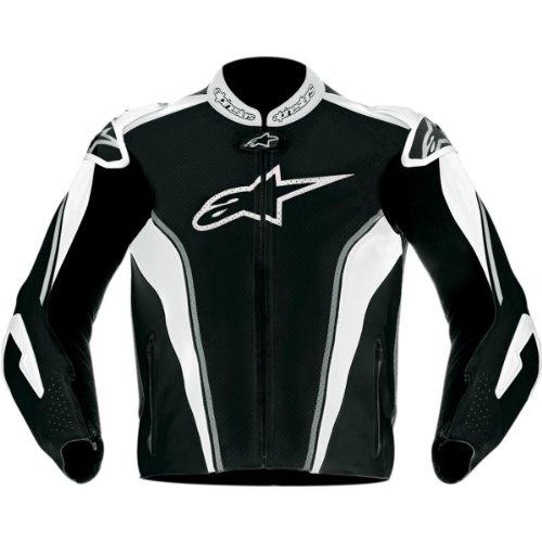 Alpinestars GP Tech Leather Jacket , Gender: Mens/Unisex, Apparel Material: Leather, Distinct Name: Black/Gray/White, Primary Color: Black, Size: 54 3108612-140-54