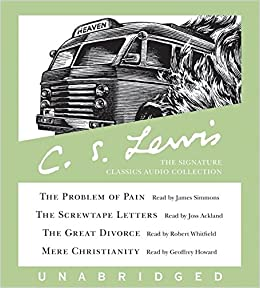 amazoncom cs lewis the signature classics audio collection the problem of pain the screwtape letters the great divorce mere christianity