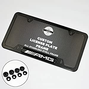 Amazon Com Black Stainless Steel Front Rear For Mercedes