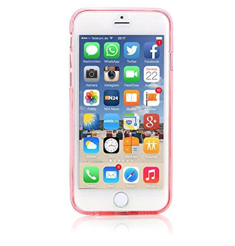 ArktisPRO cushion coque pour apple iPhone 6 plus transparent/rouge)