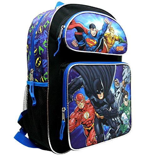 """justice+league Products : Justice League Large 16"""" Backpack #JL34940"""