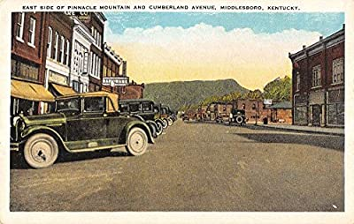 Middlesboro Kentucky Pinnacle Mountain Cumberland Ave east side Antique PC Z10883