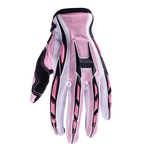 (Typhoon Women's Motocross Gloves Dirt Bike ATV Motorcycle Dual Sport MTB Off Road (Pink, Small))