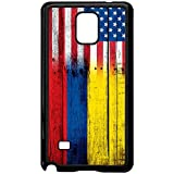 note 4 case wood - Case for Samsung Galaxy Note 4 - Flag of Colombia - Wood/USA