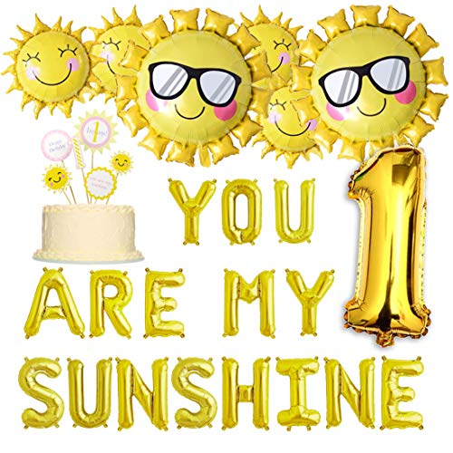 Best You Are My Sunshine 1st Birthday Party Supplies In 2019