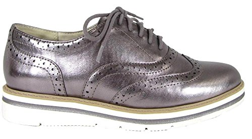 Wing Women's Platform Oxford Lace Dark Shoe Classified Gunmetal up Tip City p5xUwEFWq