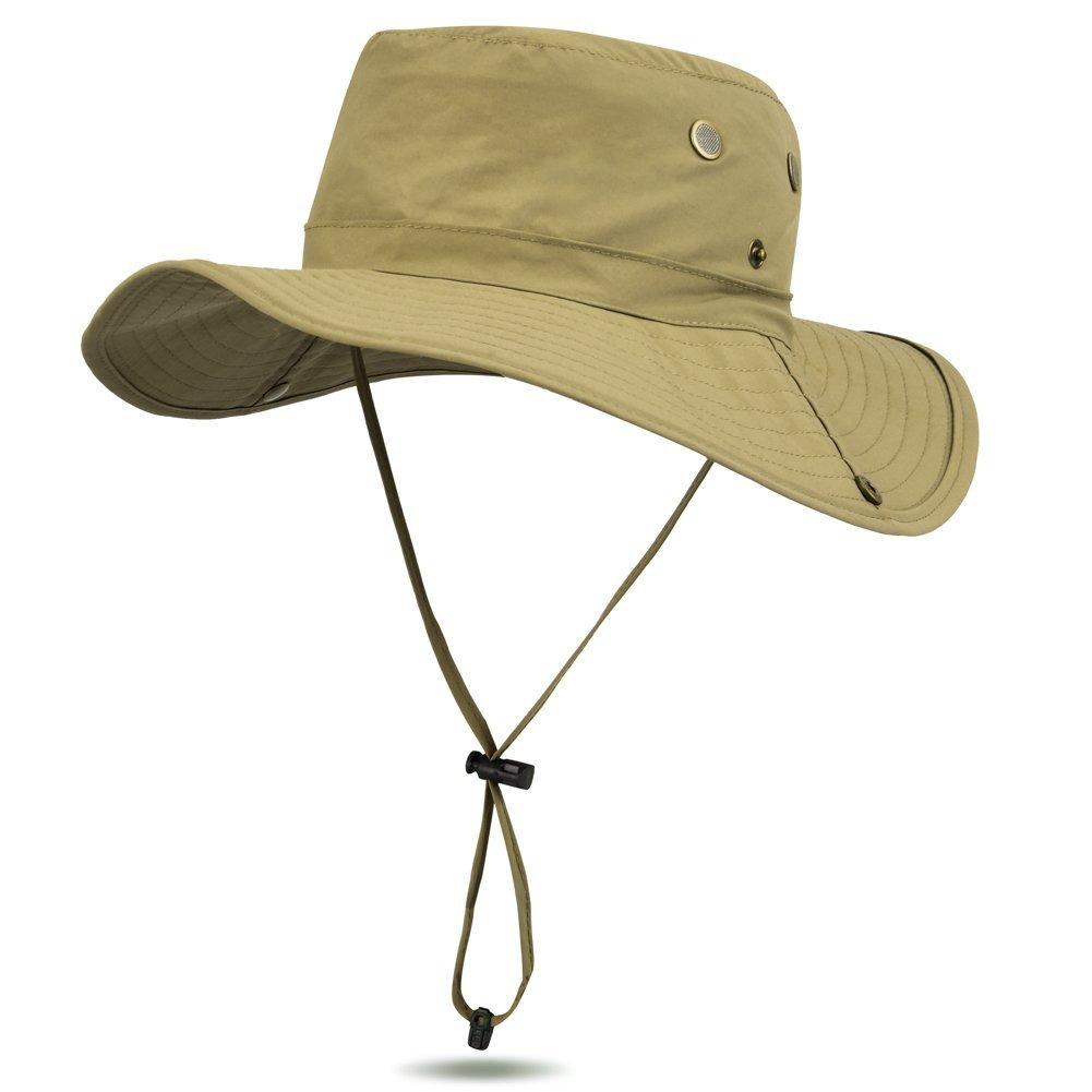 7c73d43c858 Amazon.com   Uarter Mesh Bucket Hat Boonie Cap Summer Waterproof Wide Brim Fishing  Hat Sun Protection Fisherman Hat