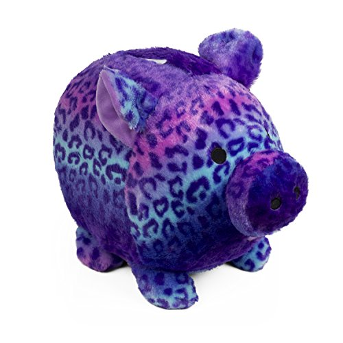 Jumbo Purple Gradient Print Plush Piggy Bank (Bank Slot Jumbo)