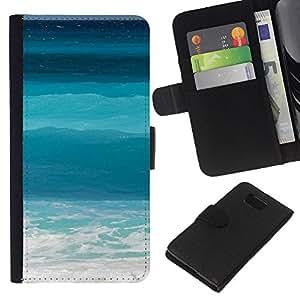 Stuss Case / Funda Carcasa PU de Cuero - Blue Waves Surf Verano Sun - Samsung ALPHA G850