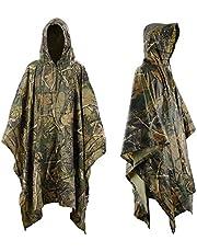 Infreecs Regenponcho, Wasserdicht Regenjacke Regenmantel mit Kapuze, Freizeit Regenmantel für Die Jagd Camping Militär und Den Täglichen Gebrauch