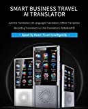 Voice Translation Equipment 45 Language 2.8 inch Touch Screen WiFi 2080 mAh Battery 1GB + 8GB 1300 Pixels Portable Photo Translation Learning Travel Business Shopping (Gray)