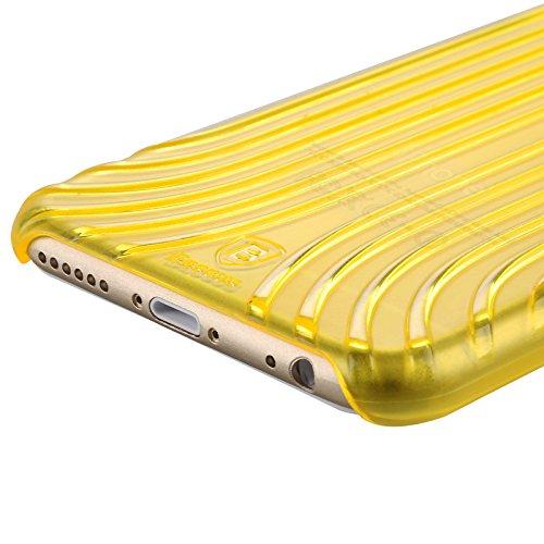 Baseus Premium Transparentes Hard-Shell Case / Ultra-Dünn / Slim / Schutzhülle für Apple iPhone 6 & 6S in Transparent Gelb