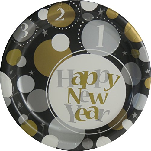 New Years Eve Disposable Party Plates = 20 count (New Years Eve Party City)