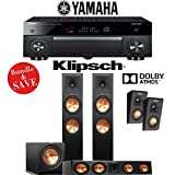 Klipsch RP-280F 3.1.2 Reference Premiere Dolby Atmos Home Theater System with Yamaha AVENTAGE RX-A1070BL 7.2-Channel Network AV Receiver