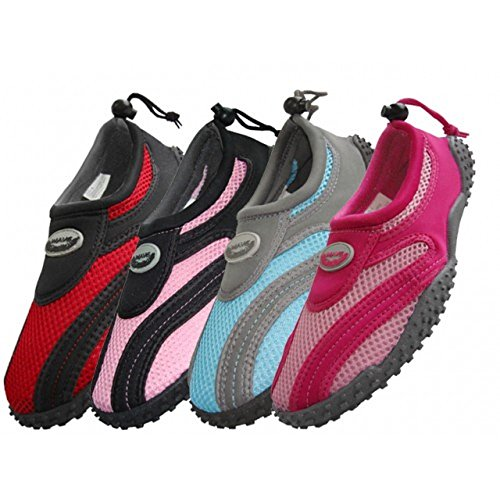 Wholesale Women's Wave Aqua Socks Multiple Sizes, Swimming, Pool Beach Water Shoes (8)