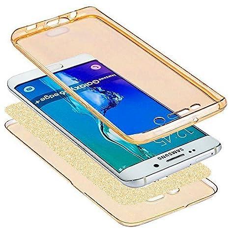 Karomenic 360 Grad Silikon H/ülle kompatibel mit Samsung Galaxy A3 2017 Bling Gl/änzend Glitzer Fullbody Case Komplettschutz Handyh/ülle Vorne /& Hinten Rundum Schutzh/ülle Bumper Case Etui,Rosa