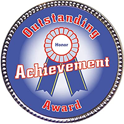Keepsake Awards Boy's Outstanding Achievement Award, 1 inch Dia Silver Pin Keepers Annual Awards Collection: Toys & Games