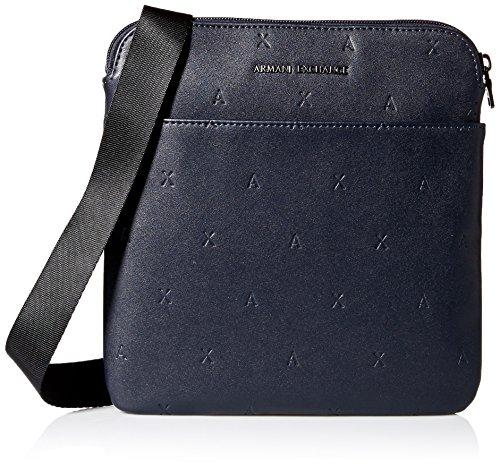 Armani Exchange Men's Embossed Logo Crossbody Accessory, -navy, (Embossed Messenger Bag)