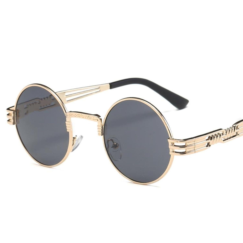 d5ce7e988a AIMEE7 Gafas De Sol Steampunk Marco Redondo Metal Gafas Redondas Retro  Mujeres Gafas De Sol De
