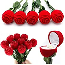 Youji® 1 pcs Rose Engagement romantic party Wedding Earring Ring Pendant Jewelry Display Box New Gift lovely