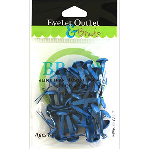 EYELET OUTLET Round Brads (70 Pack), 8mm, Dark Blue