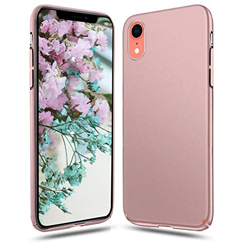 Meidom Case for iPhone XR Slim with Non Slip Matte Surface Scratch-Resistant and Anti-Fingerprint Cover Case for iPhone XR (6.1 inch) - Rose Gold ()