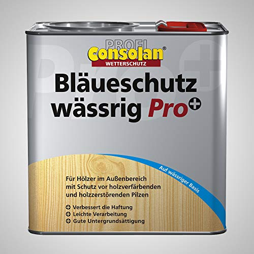 Consolan Profi Bläueschutz Holzgrundierung Holzschutz außen, wässrig, 5 Liter