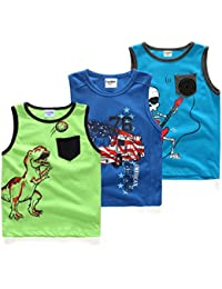 Little Boys Sleeveless Tops 3 Piece Set Tanks,18M-6T