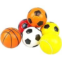 6 Pcs Mini Balles de Mousse Basketball Soccer Ball Peitits Ballons Jouet pour Bebe Enfant