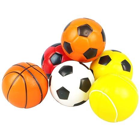 773e7b25b126a 6 Pcs Mini Balles de Mousse Basketball Soccer Ball Peitits Ballons Jouet  pour Bebe Enfant: Amazon.fr: Jeux et Jouets